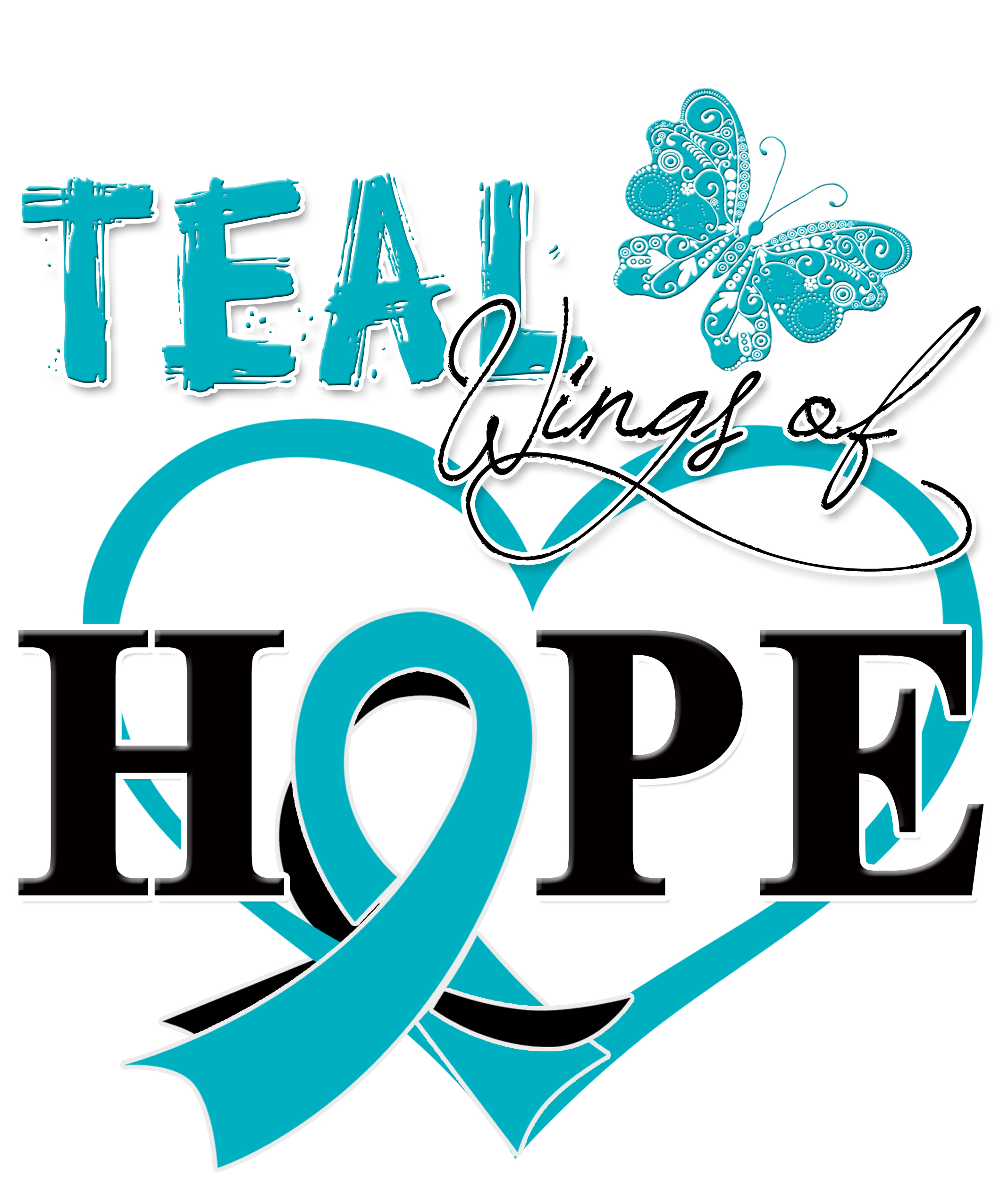 Teal Wings of Hope